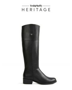 black low heeled knee high boots for skinny legs