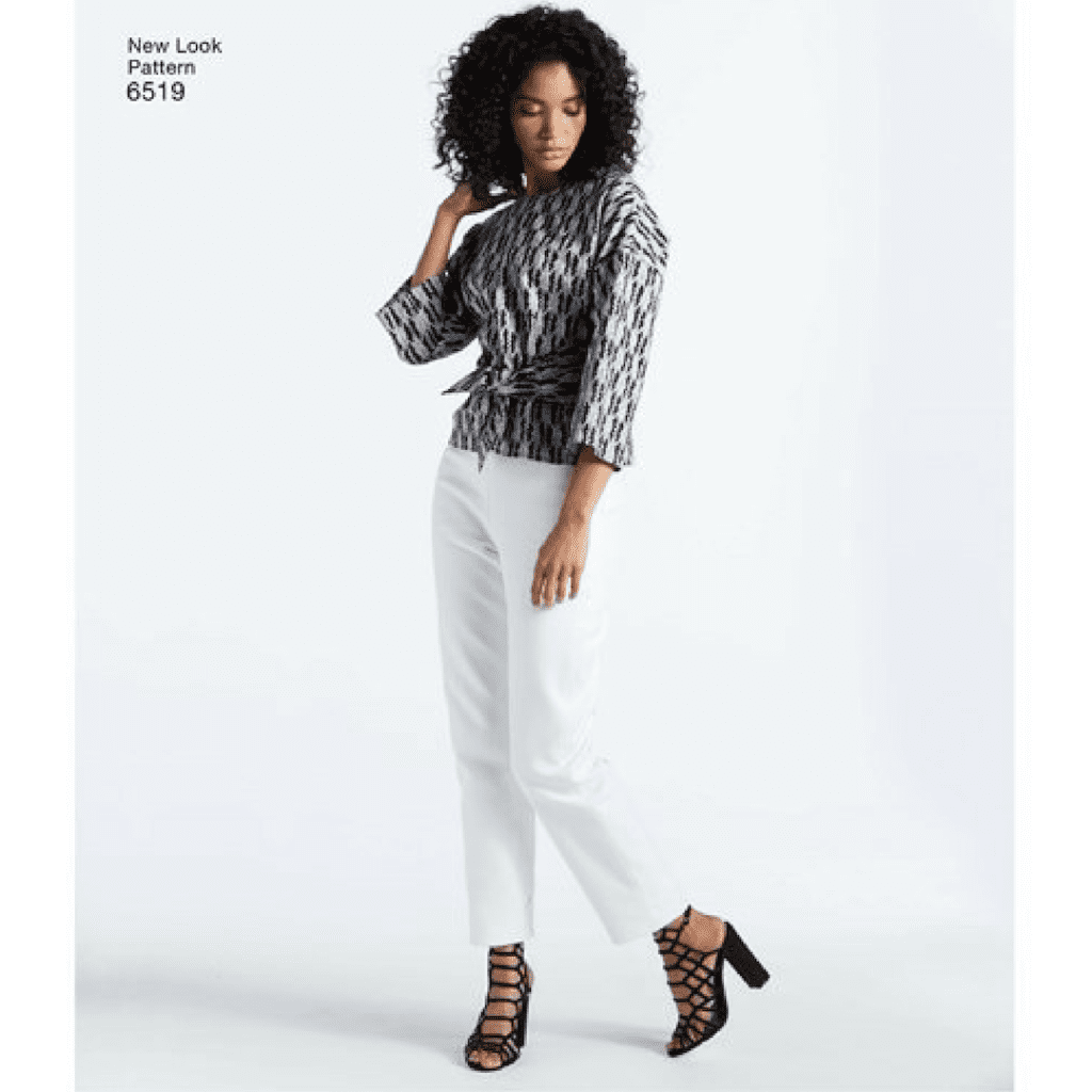 New Look 6519 tie front top