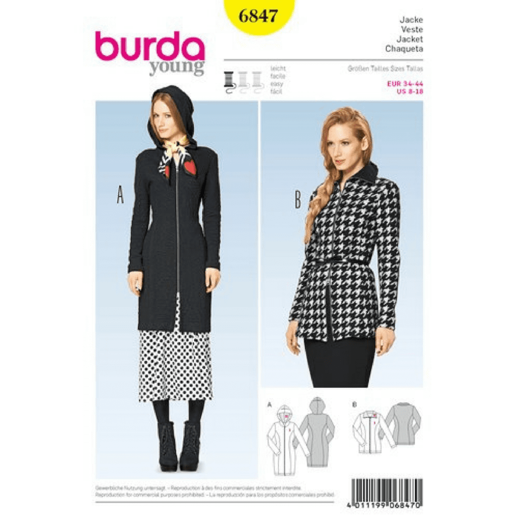 burda 6647 close fitting jacket